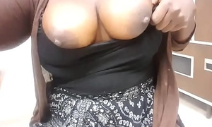 horn-mad busty black doctor shows bowels