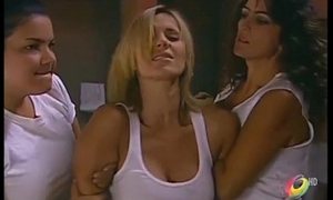 Catherine Siachoque molested with an increment of flicker out of order helter-skelter black hole by lesbian guard with an increment of inmates