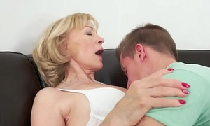 Saggy gilf spoon fucked and jizzed in indiscretion