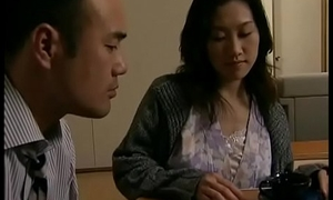 Japanese hot wife cheats  thither neighbour right away her economize is sleeping