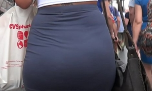Candid Juicy White Fat Up to the arse in Attire