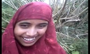 desi Bangla muslim Hijab beauty relating to forest