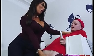 Chesty Cougar Ava Koxxx Blows Hung Pizza Guy