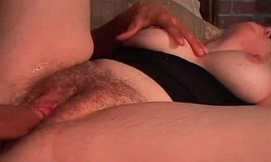 Well-endowed mom gives nut and gets muted snatch cummed