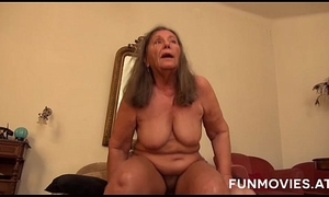 Attrition out for doors German Granny