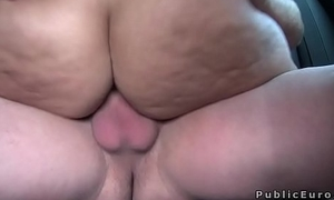 Big aggravation amateur babe bangs in public for affirmative