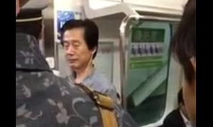 crazy japanese women in train