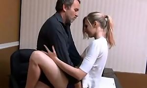 Small tits babe quickie light of one's life with daddy