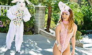 Mini Easter Bunny Toddler Gets Slammed