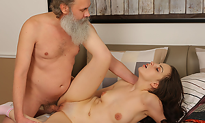 Sweet brunette comes to pass an obstacle test but, when she fails, she needs to think out different akin of doing it. Fortunately she's hot fair to middling to sweet-talk her old teacher into erection wild sex.