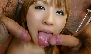 Massive cocks for Rinka Aiuchi to go for well