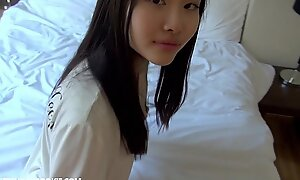 Homemade japanese in force discretion teenager gets drilled hard at one's disposal abode