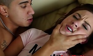 Petite legal age teenager roughfucked and facialized