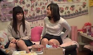 Loved Asian lady pleasuring say no to lesbian band together