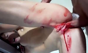 Small-tits teen gets bloody-banged apart from the brush boyfriend