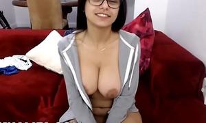 MIA KHALIFA - Gorgeous Arab Pornstar Solo Masturbation on Peppery Couch